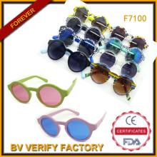 Красочные круглые очки 2015 с дешевой цена UV400 (F7100)