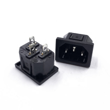 AC Socket Inlet Male 3pins Connector Wall Socket  Cabinet  Industrial Copper Interface