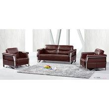 Цвет кофе офис кожаный диван (8507)