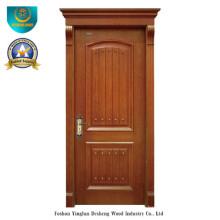 Puerta de madera maciza simplificada estilo europeo para el interior (ds-8015)