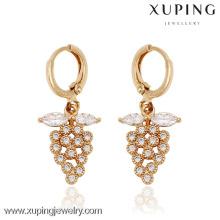 91003-Xuping Latest artificial grape shape earrings shining