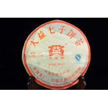 2007 Menghai Dayi 7262 queima de gordura Puer chá bolo