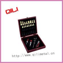 Wein-Werkzeug-set mit Schach
