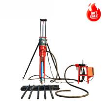 HENGWANG horizontal Portable Electric tripod DTH rock drilling rig, pneumatic borehole drilling rig