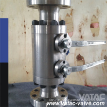 Trunnion Mounted Dbb CF8m/Ss316/F316 Double Seal Rfxrf Ball Valve