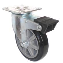 EG01 Swivel PU Caster With Dual Brake(Black)