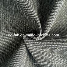 Tissu teint en fil de lin en coton (QF13-0735)