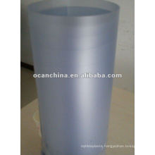 Coarse Frosted PVC Rigid Roll Blue Tint Color for Garment Collar Packaging