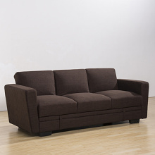 Wooden Fabric Folding Futon Storage Sofa Beds