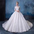 Robe de mariée Vintage robe de bal femmes avec queue
