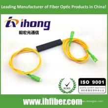 FBT 1 * 2 ABS Verpackung Fused Koppler Glasfaserverteiler SC / APC Steckverbinder