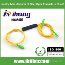 FBT 1 * 2 ABS Pacote Fusível acoplador fibra óptica splitter SC / APC Conectores