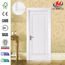 JHK-001 Bom Customized FSC Certificado Whiter Primer Flush Solid Wooden Door