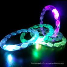 bracelet clignotant led avec fil blanc