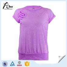 Холодная сухая футболка Девушки Дышащая одежда