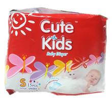 Hot Sale Cotton Baby Diaper in PE Back Sheet.