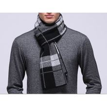 50% Wol 50% Cashmere Knitted Scarf