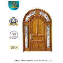 Puerta doble de seguridad con vidrio y hierro (B-9011)