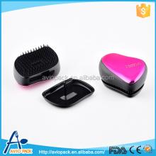 Professional aviopack colorful 8.5cm mini plastic PP hair brush