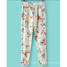 OEM Autumn Fashion Elestic Waist Printed Women Trousers