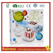 Felt Cupcake DIY Spielzeug für Kinder
