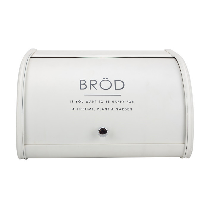 White Ceramic Roll Top Bread Bin Bread Storage