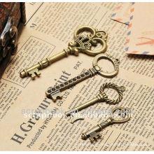 Metall antik Dekoration Charme/Schlüssel Form Anhänger