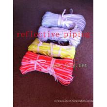 tubulação reflexiva para a roupa de cor de alta visibilidade