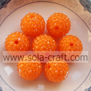10 * 12MM 100pc fluorescenza arancio grosso resina strass perline