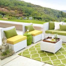 Wicker Terrassengarten Outdoor-Rattan Möbel Sofa Lounge-Set