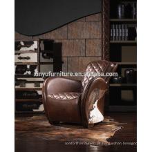 Cadeira de alça de couro antiga A617