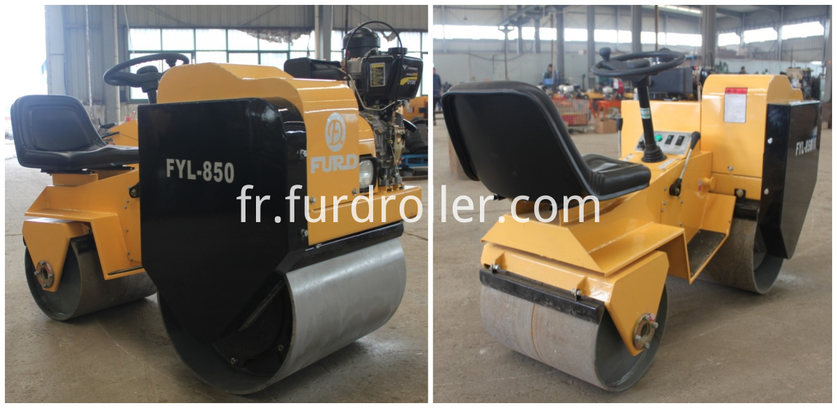 smooth drum road roller