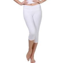 Weiße Farbe Dry Fit Yoga Kleidung Benutzerdefinierte Yoga Hosen