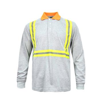 Хлопковая защитная футболка с высокой видимостью