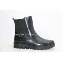 Novas sapatilhas de moda moda feminina botas de couro