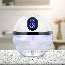 Purificador iônico do ar do Desktop da luz do diodo emissor de luz do arco-íris da água