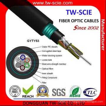 Câble extérieur à fibre optique Sm