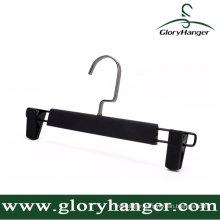 DIP Rubber Paint Plastic Pant Hanger with Two Clip