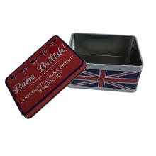 England-Flaggen-Druck-Metall-Geschenk-Zinn-Behälter für Nahrungsmittelverpackungs-Kasten