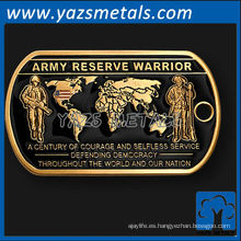personalizar las etiquetas de perro del metal, alta calidad de encargo etiqueta de perro de la reserva del ejército de los EEUU