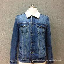 Gepolsterte Jacke aus Baumwoll-Denim für Herren