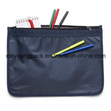 70d Nylon A4 Size Zipper Document Bag for Promotional Gift