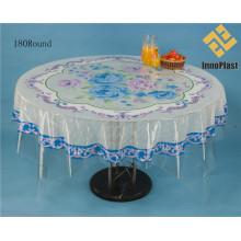 Couverture de table ronde transparente en PVC de conception indépendante