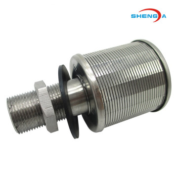 Roestvrijstalen Wedge Wire Single Headed Filter Nozzle