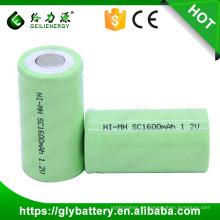 Wiederaufladbare NIMH 1.2V SC 1600mAh Elektrowerkzeug Batterie