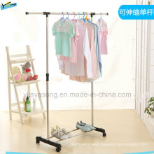 Low Price Single Fold Metal Hanger with Wheel