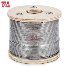 Câble métallique en acier inoxydable 7X7