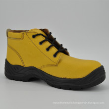 Yellow Leather Women Safety Work Shoes Ufb057
