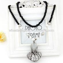 Nouveaux bijoux à la mode, élégant épinards perlé collier pendentif
