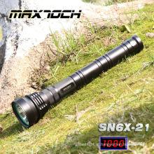 Tática da lanterna elétrica do lúmen de Maxtoch SN6X-21 XML T6 1000 com correia